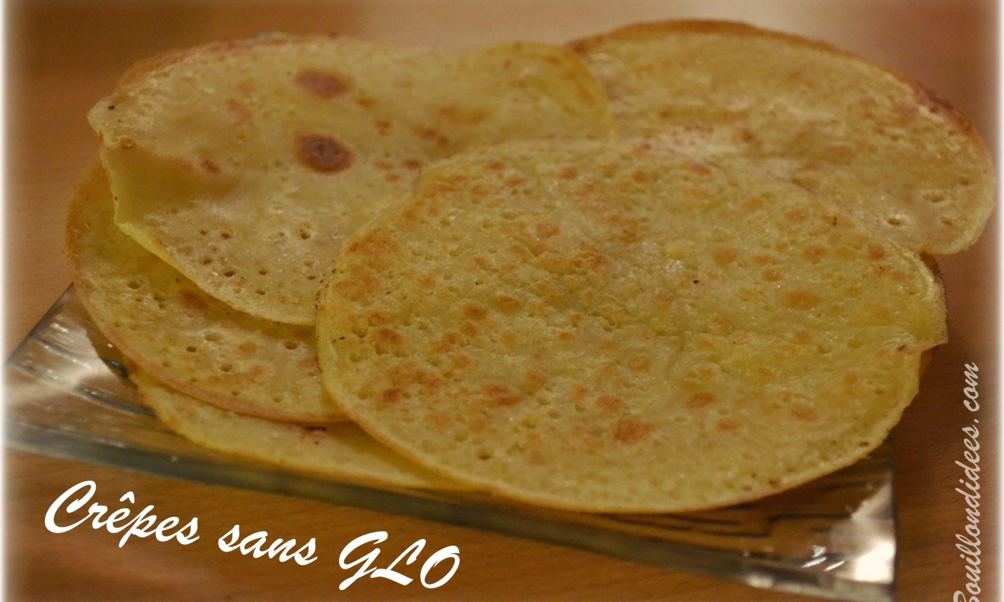 Crepes sans GLO (gluten, lait, lactose, oeuf)