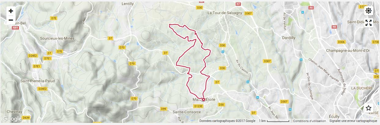 Randonnee pédestre Marcy L'Etoile / La Tour de Salvagny
